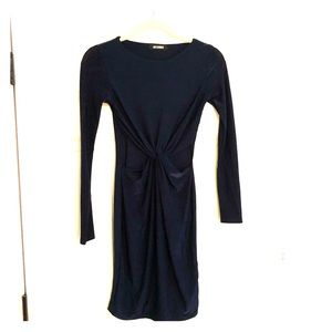 Missguided cut-out navy body-con dress